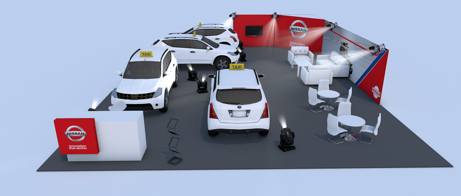 <strong>NISSAN – TAXI EXPO<span><b>in</b>Stand </span></strong><i>→</i>